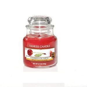 Cherries On Snow - SŁOIK MAŁY Yankee Candle
