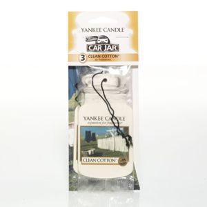 Clean Cotton CAR JAR Bonus Pack YANKEE CANDLE