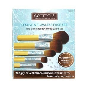 EcoTools FESTIVE AND FLAWLESS FACE SET Zestaw 5 pędzli
