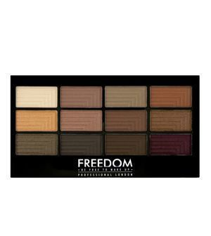 FREEDOM MAKEUP Pro 12 Audacious Secret Rose  PALETA CIENI