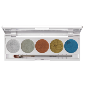 Kryolan METALLIQUE 5 COLORS Paleta 5 cieni kremowych LUXURY2 5011
