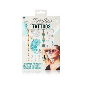 Natural Products Metallic tattoos TATUAŻE ZŁOTO-TURKUSOWE.