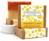 Pure Thoughts Grapefruit & Lemon natural soap - mydło naturalne cytryna i grapefruit 120g