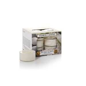 Sea salt & sage - TEA LIGHT Yankee Candle Zestaw 12 Świeczek
