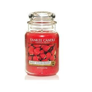 Yankee Candle ŚWIECA SŁOIK DUŻY Sweet Strawberry