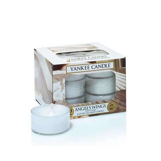 Angel Wings - TEA LIGHTS Yankee Candle Zestaw 12 Świeczek