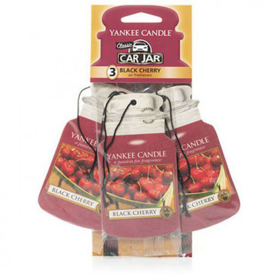 Black Cherry CAR JAR Bonus Pack YANKEE CANDLE