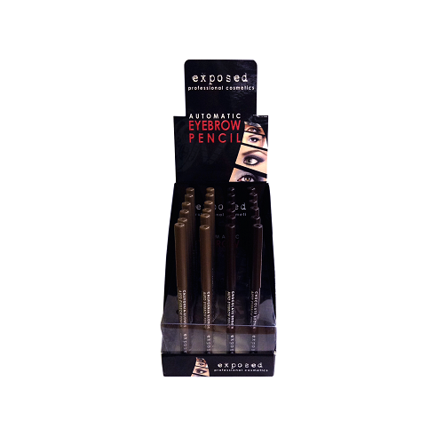 EXPOSED Auto eyebrow pencil -  automatyczna kredka do brwi CHOCOLATE BROWN