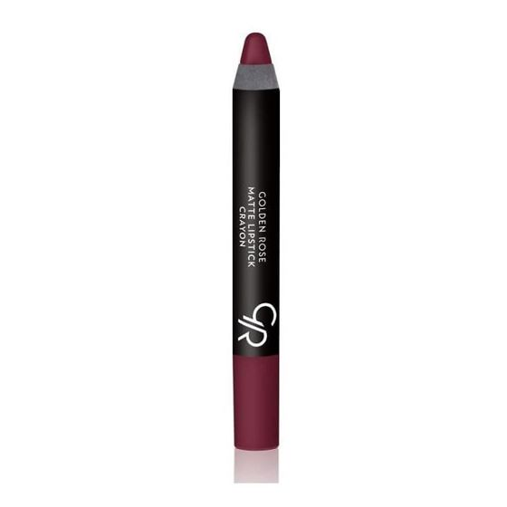 GOLDEN ROSE - Matte Crayon Lipstick - Matowa pomadka do ust w kredce 19