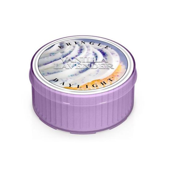 KRINGLE CANDLE  Świeczka Coloured Daylight VANILLA LAVENDER