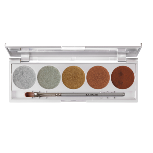 Kryolan METALLIQUE 5 COLORS Paleta 5 cieni kremowych LUXURY1 5011