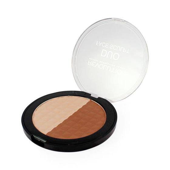 MAKEUP REVOLUTION Duo Face Sculpt MATOWY BRONZER i PUDER