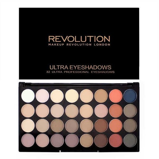 MAKEUP REVOLUTION Paleta 32 cieni FLAWLESS MATTE 2
