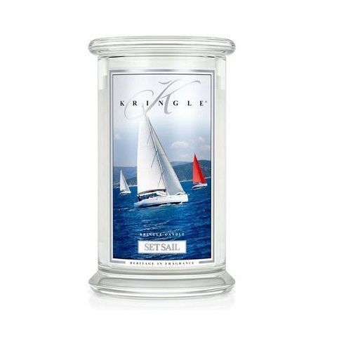 SET SAIL Duża świeca z dwoma knotami KRINGLE CANDLE