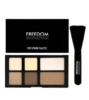 FREEDOM MAKEUP Pro Powder Strobe PALETA DO KONTUROWANIA + PĘDZEL