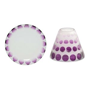 Purple Circles MAŁY KLOSZ + TALERZ Pure Essence Yankee Candle
