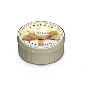 KRINGLE CANDLE  Świeczka Coloured Daylight GOLD & CASHMERE
