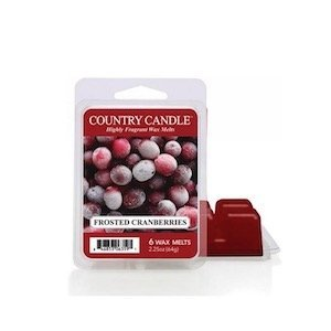 country candle wosk zapachowy frosted cranberries 64g
