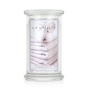 kringle candle warm cotton duża świeca z dwoma knotami