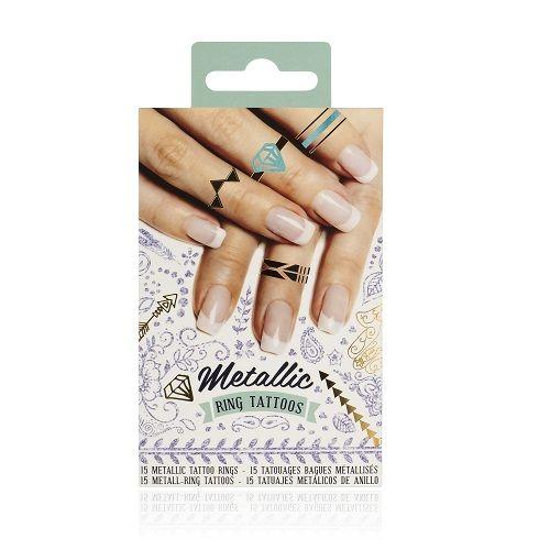 Natural Products Metallic Ring Tattoos Tatuaż