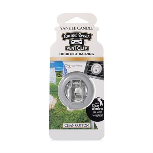 Clean Cotton CAR VENT CLIP Yankee Candle