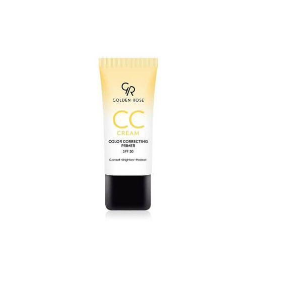 Golden Rose CC cream color correcting primer - korygujący krem CC 03 żółty