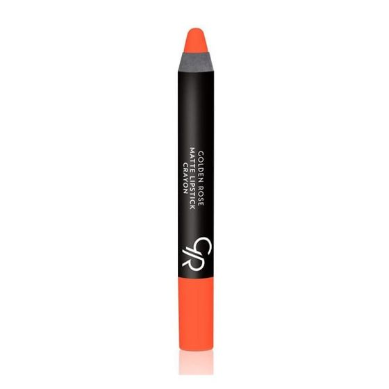GOLDEN ROSE - Matte Crayon Lipstick - Matowa pomadka do ust w kredce 24