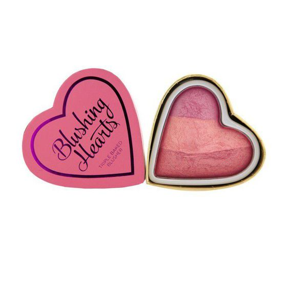 Makeup Revolution I Heart Makeup Blushing Heart Wypiekany Róż