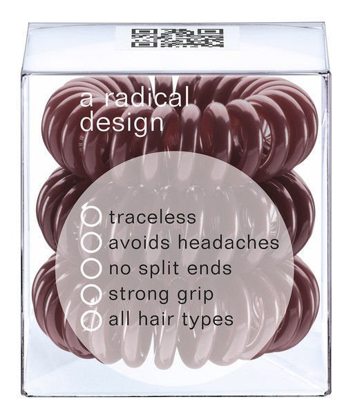 Invisibobble Gumka do włosów Chocolate Brown 3 szt
