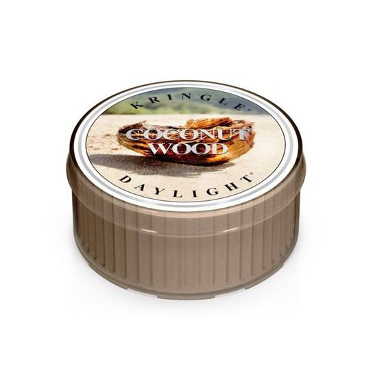 KRINGLE CANDLE  Świeczka Coloured Daylight COCONUT WOOD