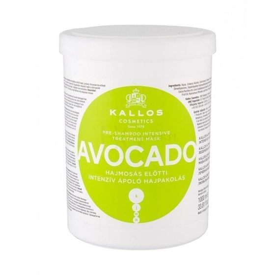 Kallos Maska do włosów Avocado 1000 ml