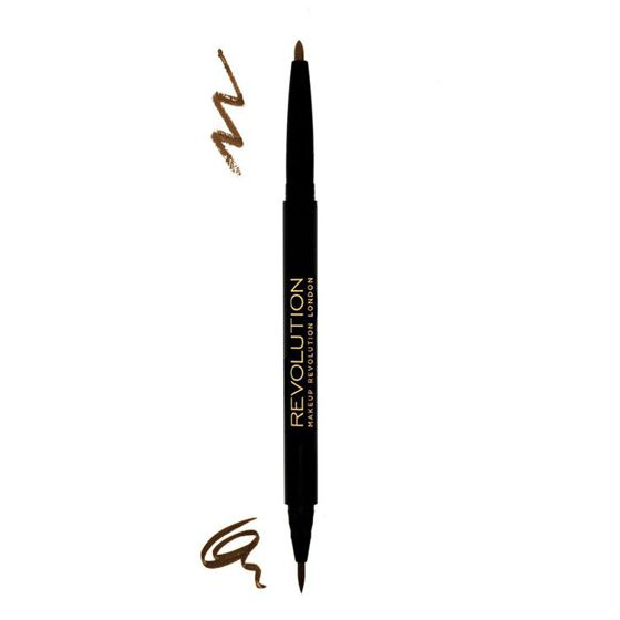 MAKEUP REVOLUTION Dual Brow Kredka do Brwi MEDIUM