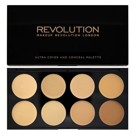 Makeup Revolution Paleta korektorów Ultra Cover and Concealer Palette Light Medium