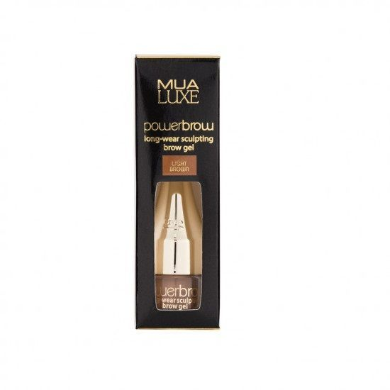 MUA Luxe Power Brow Sculpting Gel - Żel do brwi LIGHT BROWN