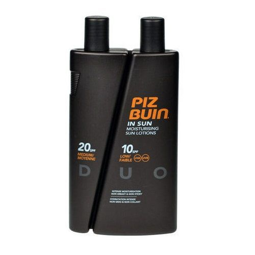 Piz Buin Mleczko do opalania Spf 10 + Spf 20 In Sun Lotion Duo