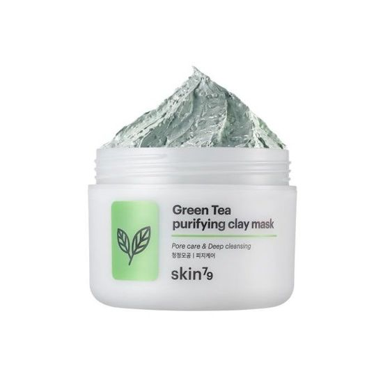 Skin79 Green Tea purifying clay mask Peelingująca maska do twarzy