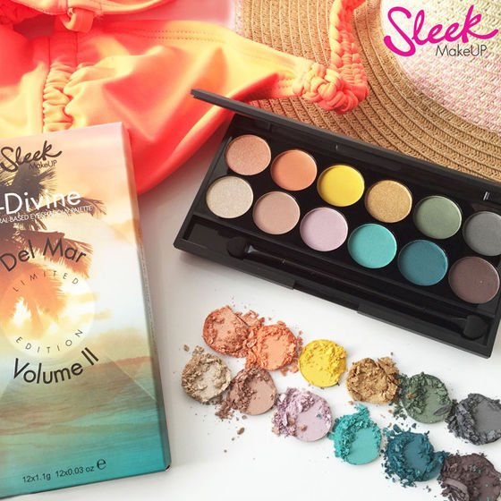 Sleek MakeUp DEL MAR Vol 2 Paleta cieni