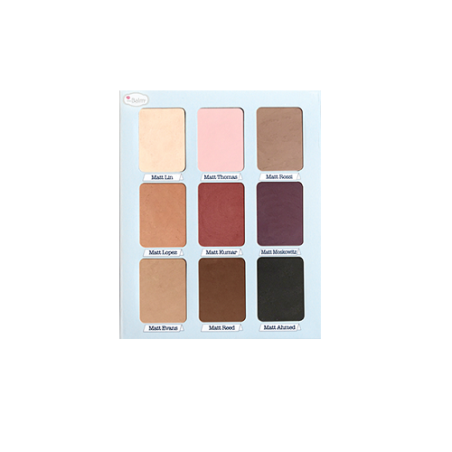 the Balm MEET MATT(E) TRIMONY Paleta 9 matowych cieni