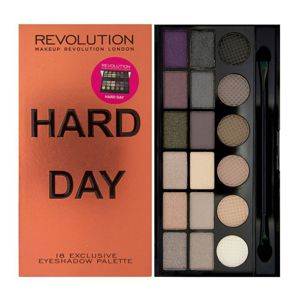 MAKEUP REVOLUTION Paleta 18 cieni HARD DAY