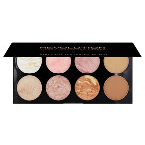 MAKEUP REVOLUTION Ultra Blush Palette PALETA RÓŻY Golden Sugar