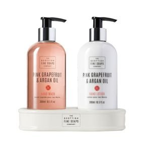 Pink Grapefruit & Argan Oil Hand Care Set ZESTAW MYDŁO I BALSAM DO RĄK 2 x 300ml
