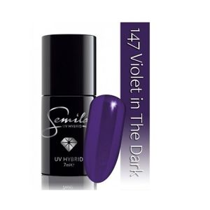 SEMILAC Lakier hybrydowy 147 Violet in The Dark  - 7ml