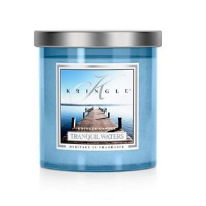 TRANQUIL WATERS Large Coloured Tumbler KRINGLE CANDLE 240g